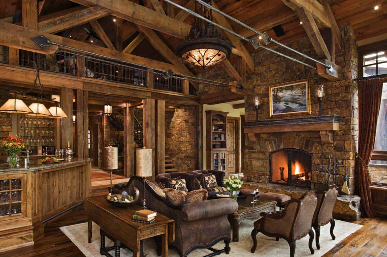 Striking Rustic Stone And Timber Dwelling In Ontario Canada Auto Wiring Jvc Diagram R950bt