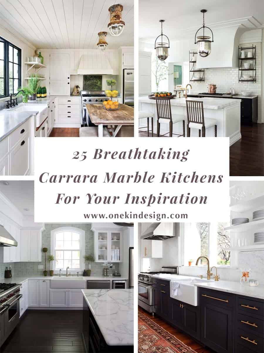 White Carrera Marble Kitchen Countertops 25 Breathtaking Carrara Marble Kitchens For Your Inspiration