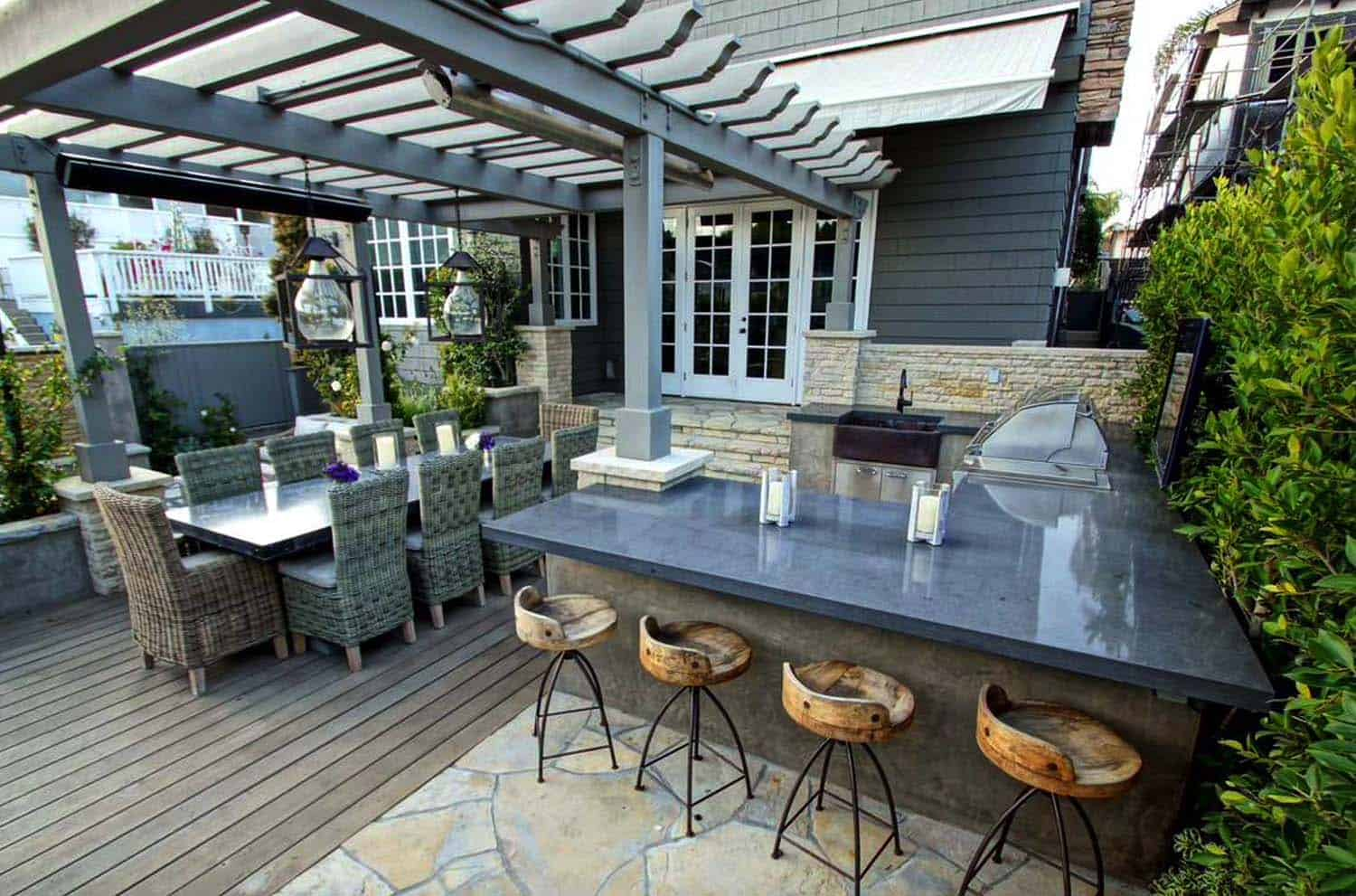 Outdoor Küche Do It Yourself 20 43 Spectacular Outdoor Kitchens With Bars For Entertaining
