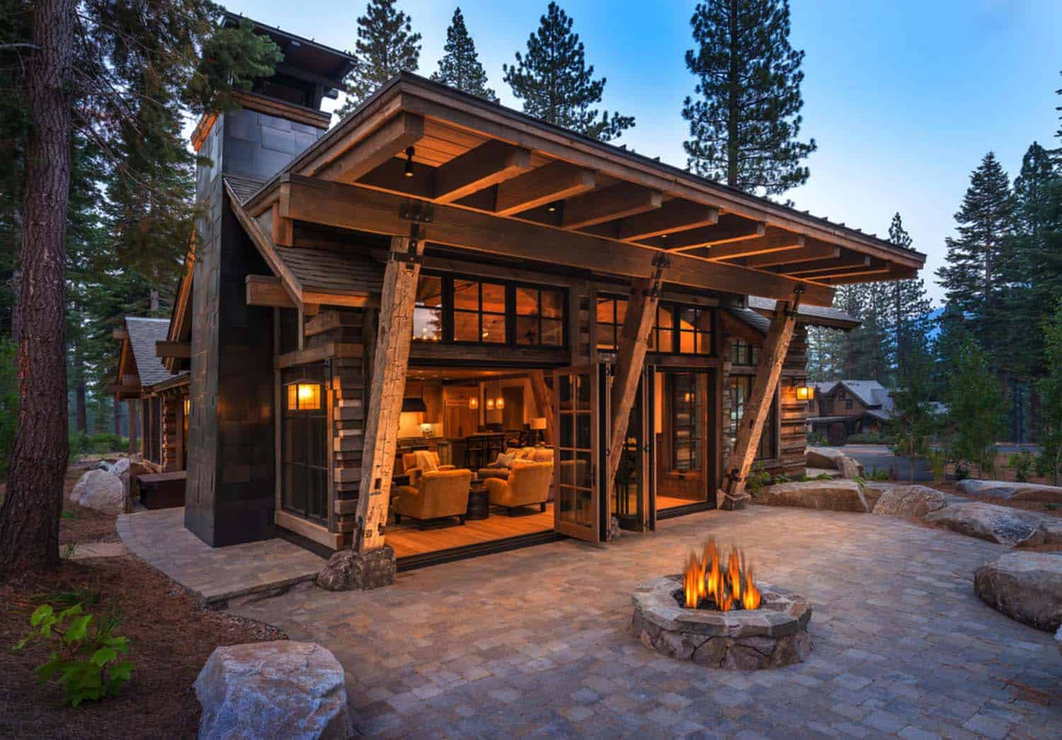 Modern Cabin Decor Cozy Mountain Style Cabin Getaway In Martis Camp California