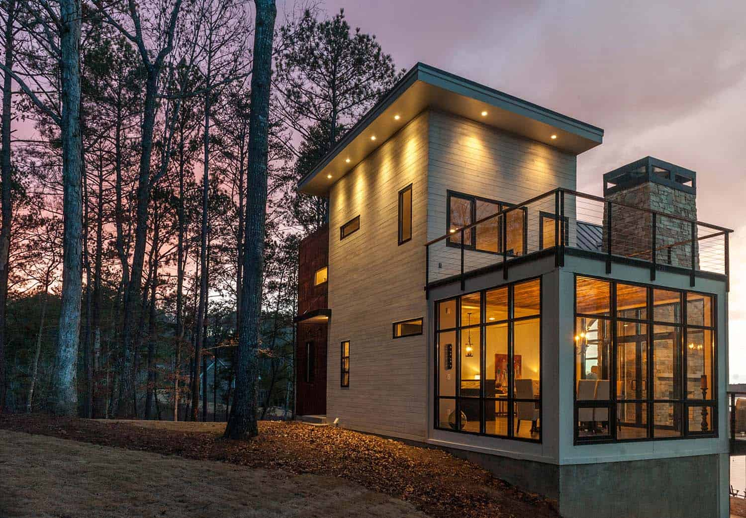 Modern Lake House Designs Modern Lake House In Alabama Blends Well Into Its Surroundings