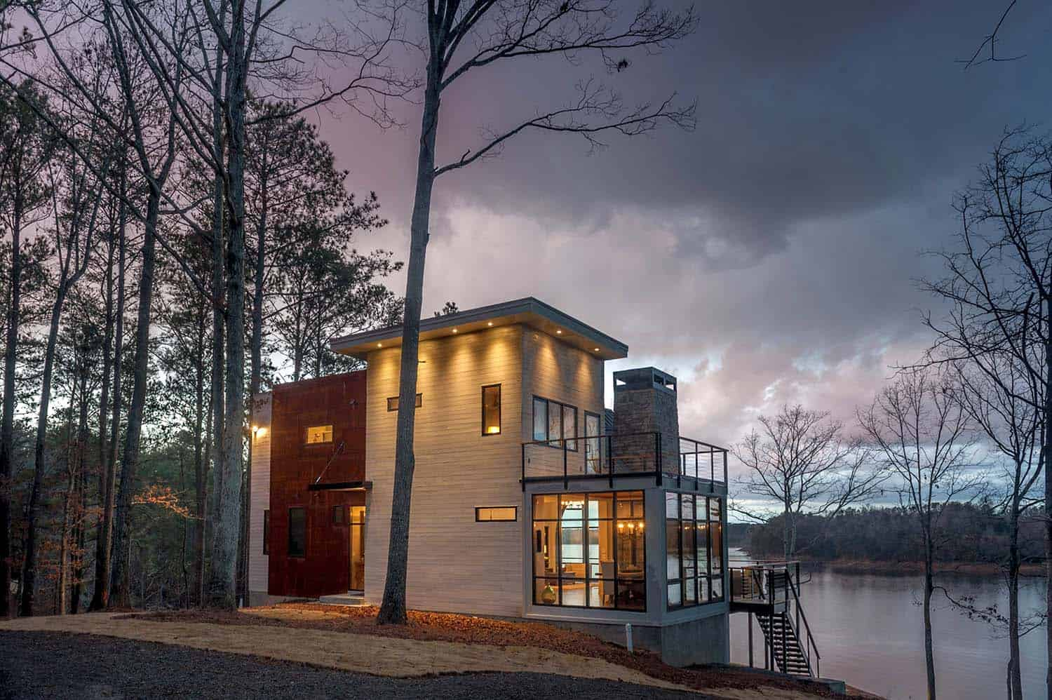 Modern Lake House Designs Modern Lake House Home Design