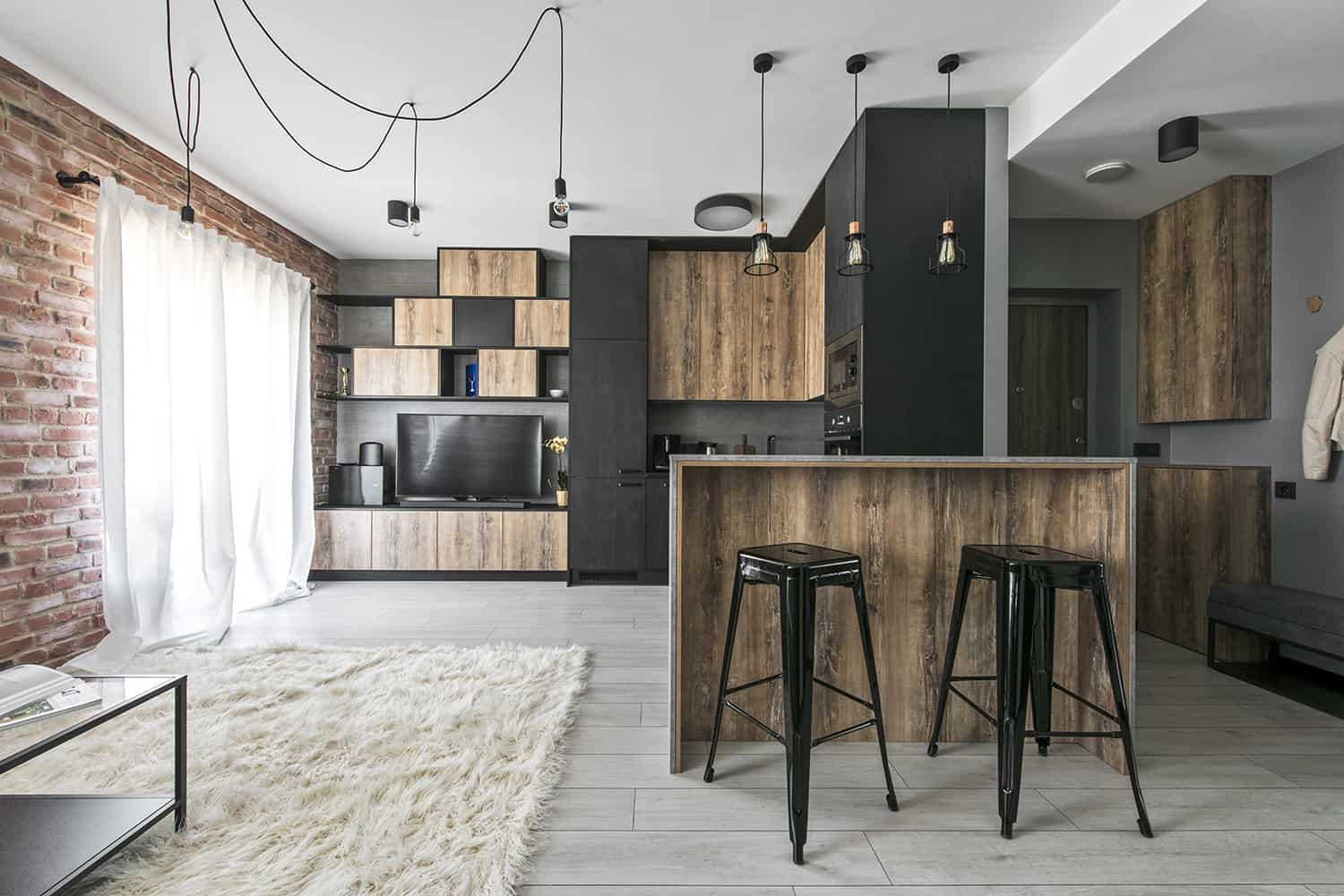 Small Apartment Interior Small Industrial Apartment In Lithuania Gets An Inspiring Update