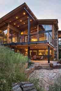 Elegant mountain contemporary home in Colorado radiates ...