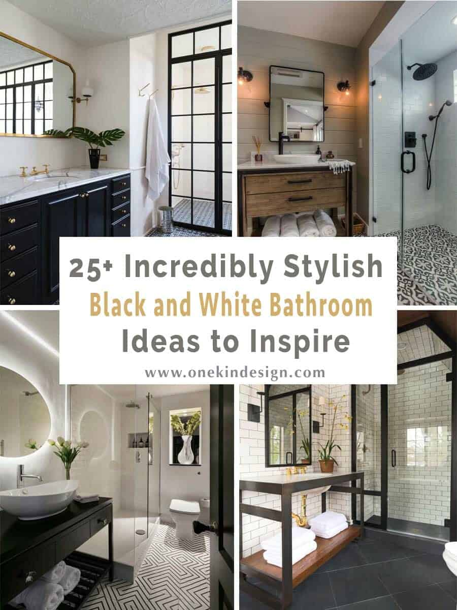 Black And White Marble Floors 25 Incredibly Stylish Black And White Bathroom Ideas To Inspire