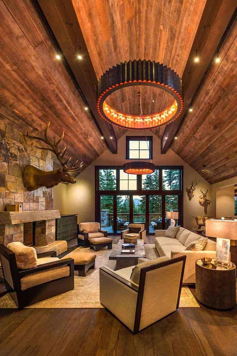 Rustic Family Room Rustic Mountain Home In Tahoe Offers Sophisticated Style And Warmth