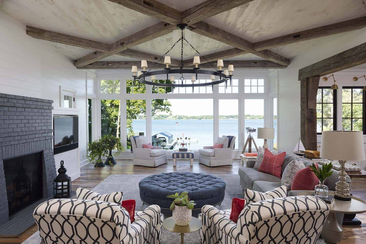 Stunning Modern Farmhouse With A Coastal Twist On Lake Minnetonka