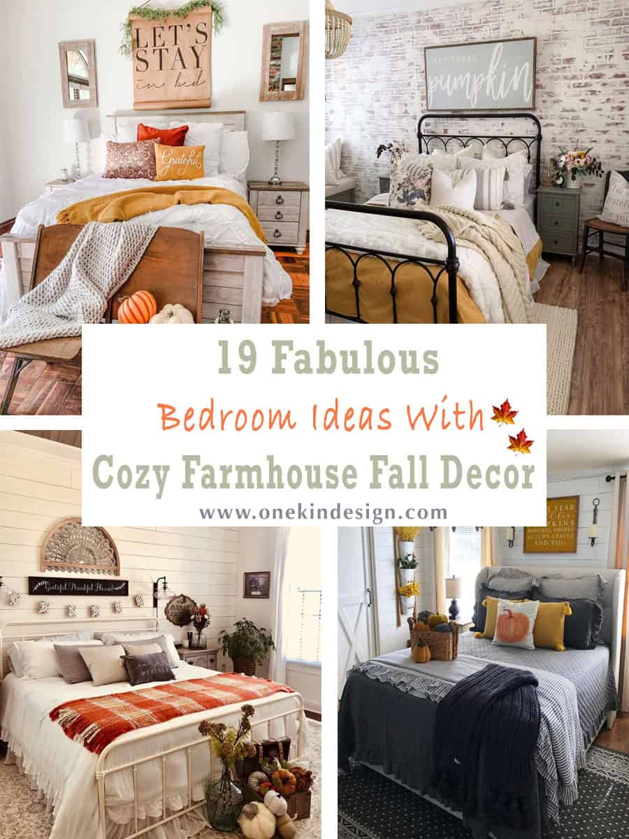 19 Amazing Bedroom Ideas With Cozy Farmhouse Fall Decor