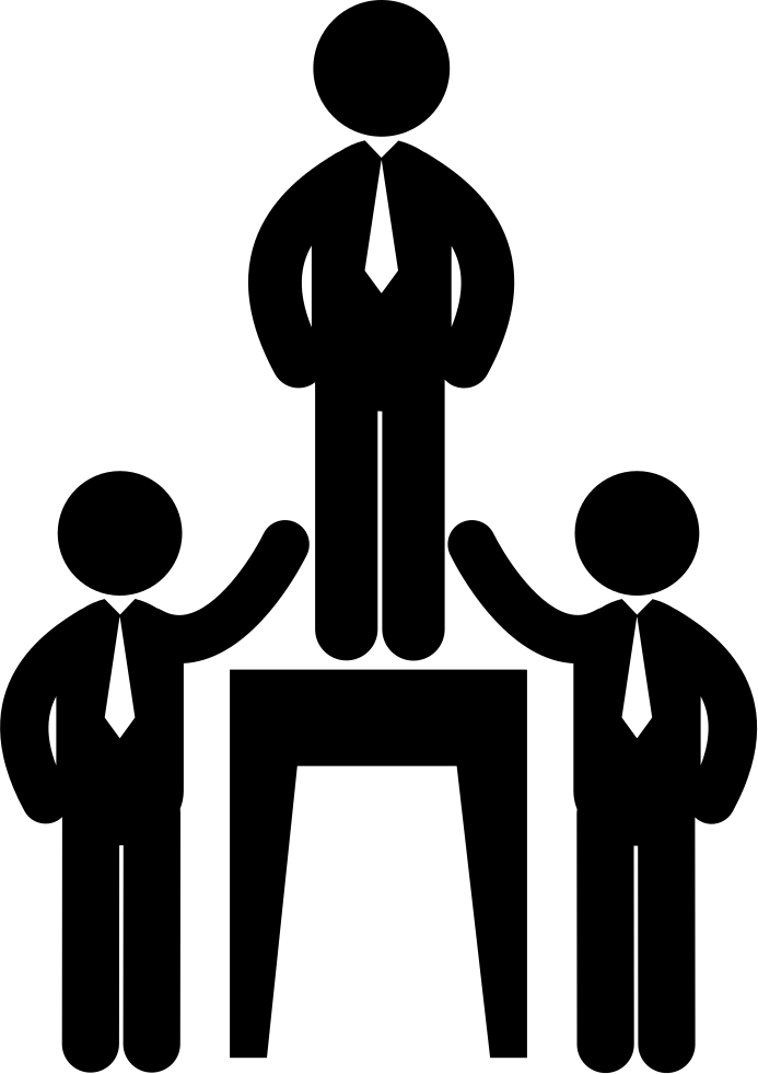 Solid Black Wallpaper Businessmen Hierarchy With A Leader Svg Png Icon Free