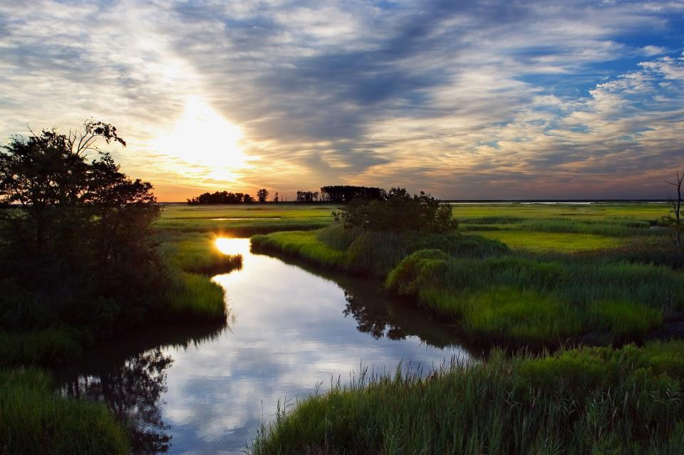 Panoramic Wallpaper Fall Bombay Hook National Wildlife Refuge Is The Most Isolated