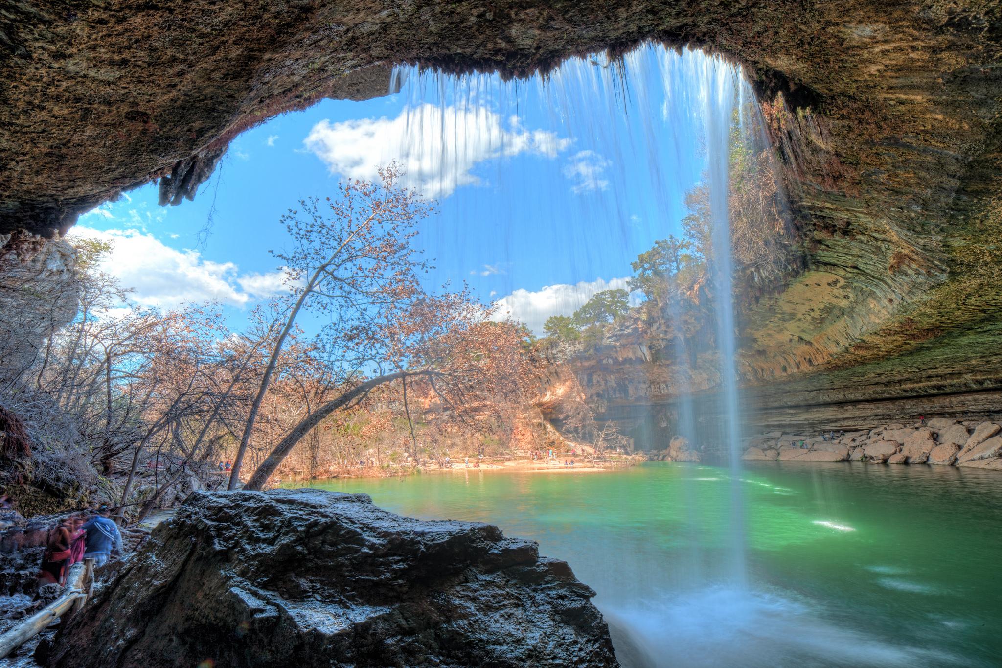 Boston Hd Wallpaper You Can Swim In The Waterfall At Hamilton Pool In Texas
