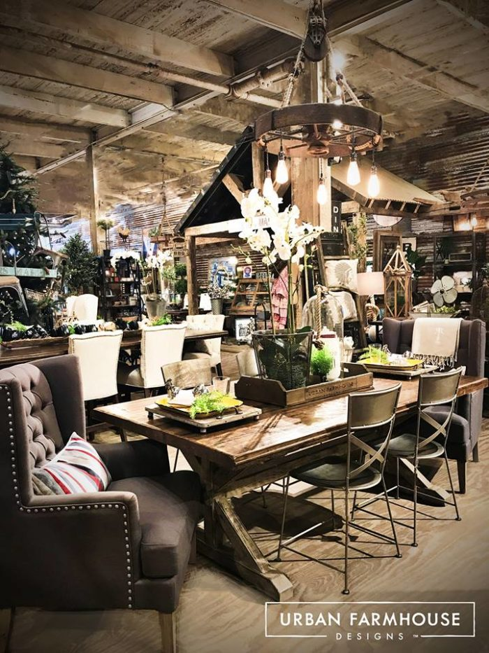 Metal Dining Table Urban Farmhouse Designs Is A One-of-a-kind Furniture Store
