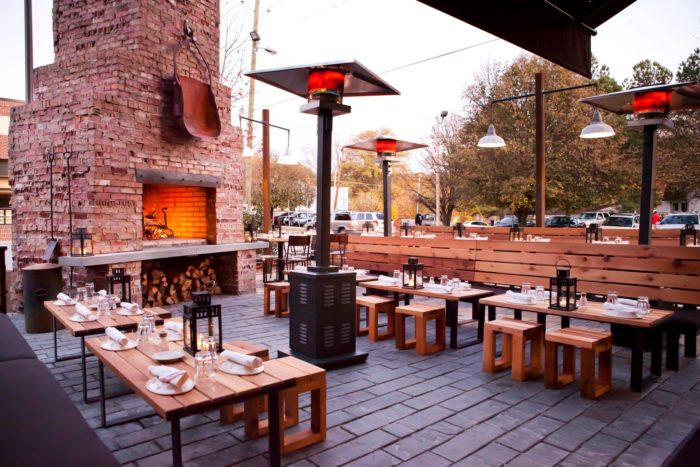 Dine By Fireplace At Barcelona Wine Bar Restaurant In