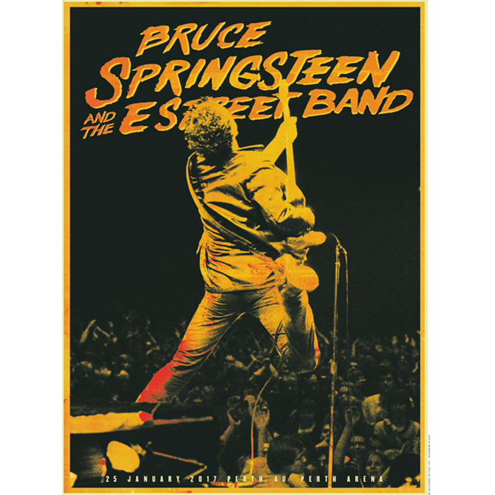 Posters Perth Bruce Springsteen Official Store Summer 17 Australia New Zealand Tour Perth January 25th Poster