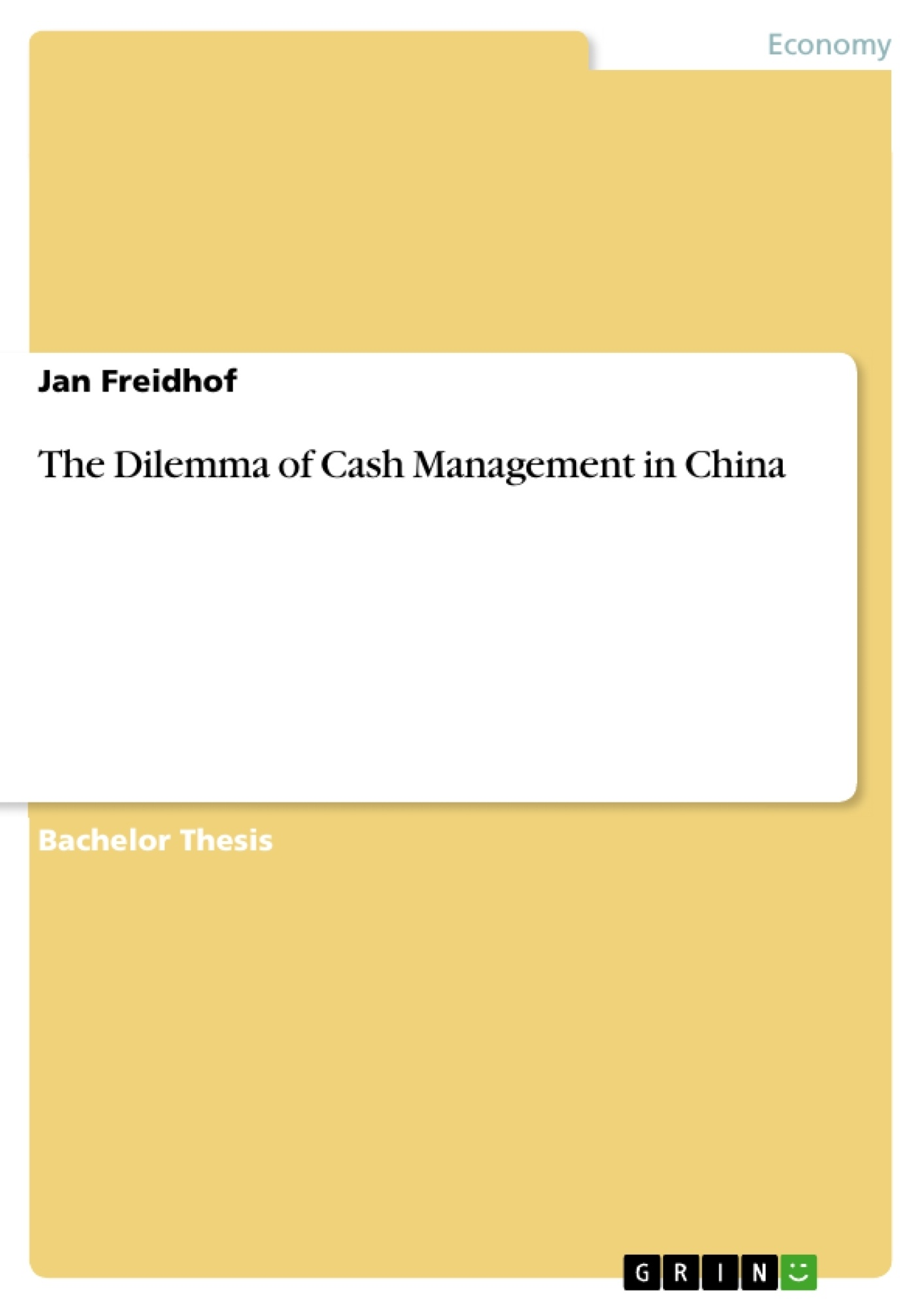 Cash Pool Unternehmen Grin The Dilemma Of Cash Management In China