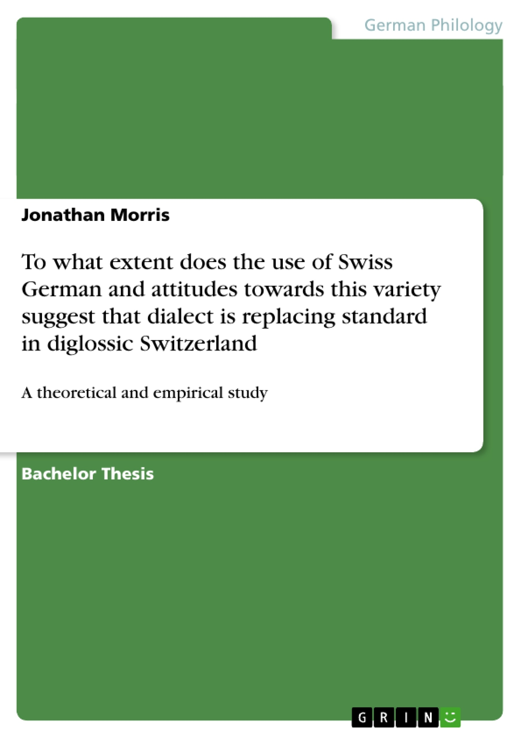 Bis Nachher Englisch Grin To What Extent Does The Use Of Swiss German And Attitudes Towards This Variety Suggest That Dialect Is Replacing Standard In Diglossic