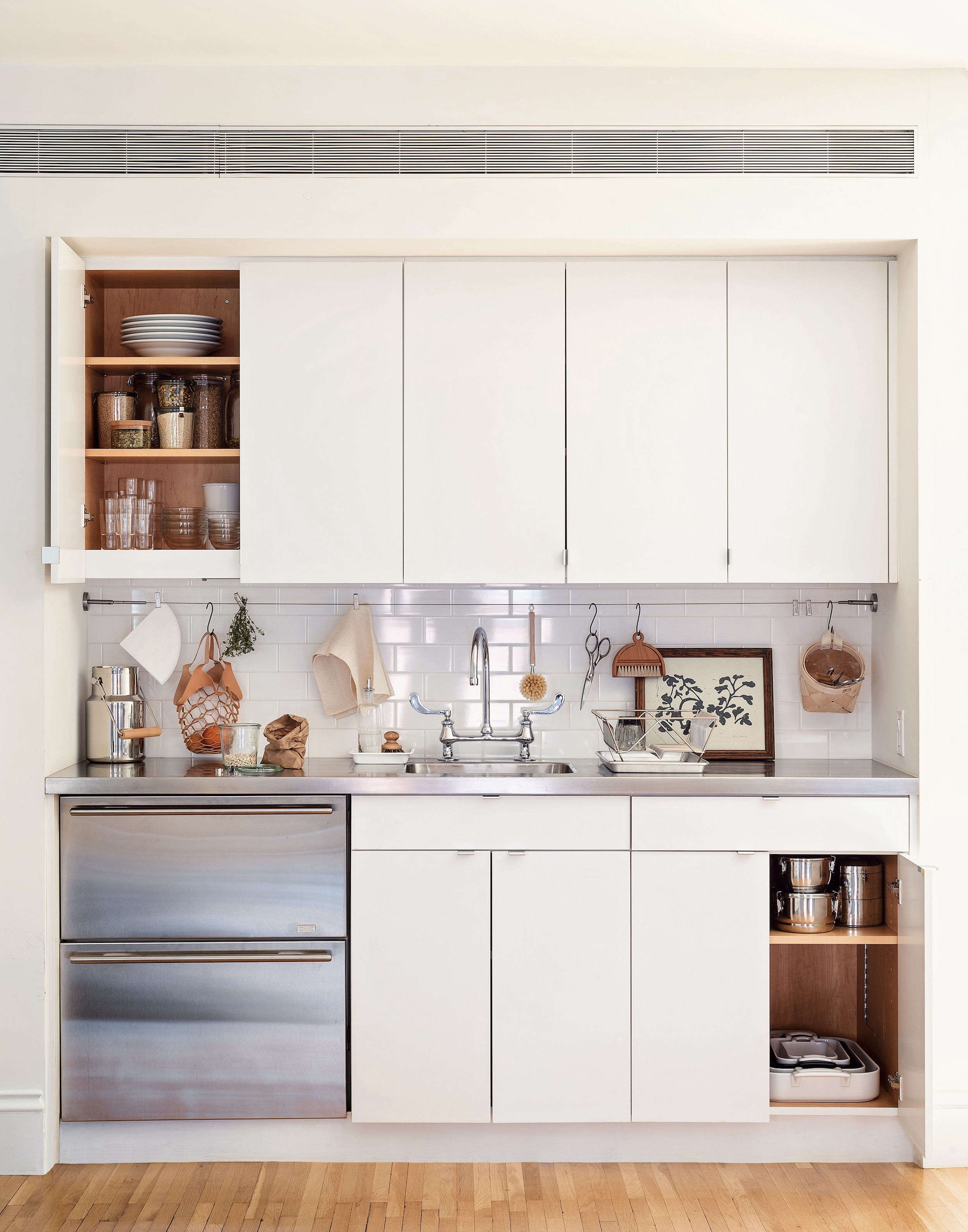 Kitchenette Ikea 5 Space Saving Ideas To Steal From A Brooklyn Kitchen Ikea Hack