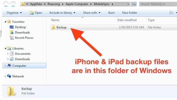 iPhone Backup Location for Mac  Windows