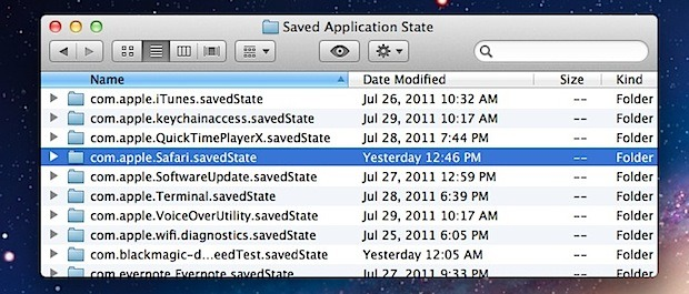 Turn Off Resume on a Per App Basis in Mac OS X Lion with defaults write