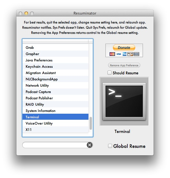 Easily Manage OS X Lion\u0027s Resume Feature for Every Application with
