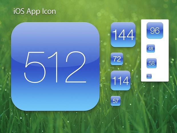 Retina iOS App Icon Template PSD - iphone app icon template
