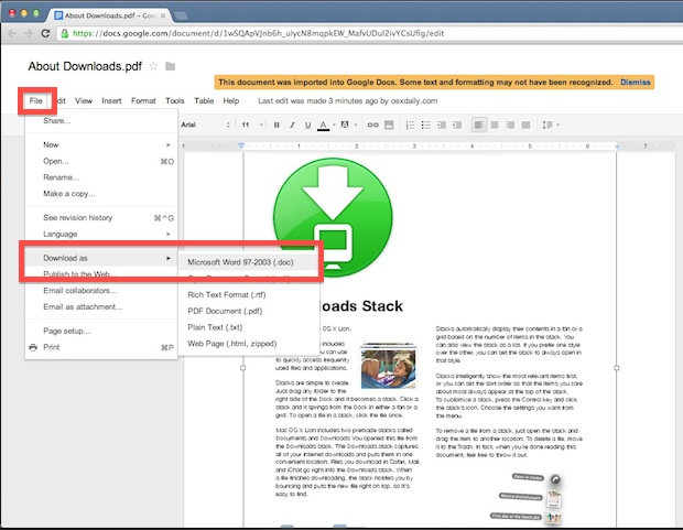 The Best Way to Convert a PDF File to DOC for Free is with Google Docs - Convert File To Pdf