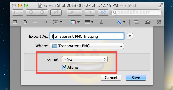 Make a Transparent Image (PNG or GIF) Easily with Preview for Mac OS X - how to make a picture transparent