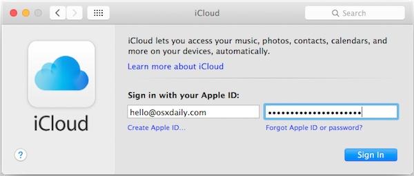 How to Change an Apple ID  iCloud Account in Mac OS X