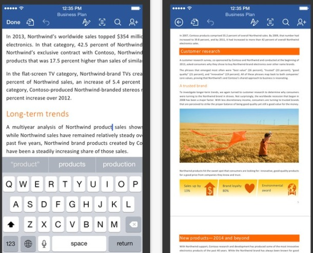 Microsoft Office Apps for iPhone  iPad Available as Free Download