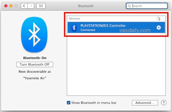 How to Connect a Playstation 3 Controller to a Mac in MacOS Mojave