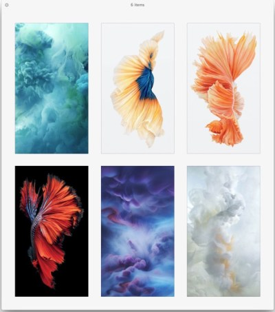 Get the Beautiful Live Wallpapers from iPhone 6s as Still Wallpapers