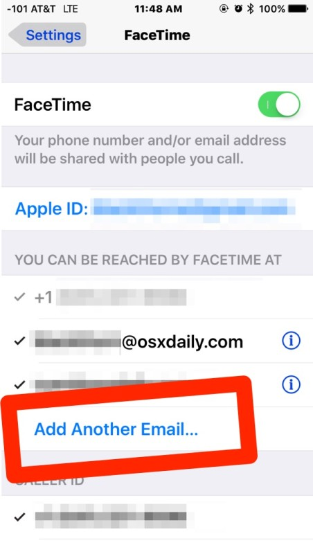 How to Add Another Email Address to FaceTime