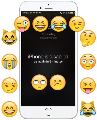 "April Fools! The ""iPhone is Disabled"" Wallpaper Prank"