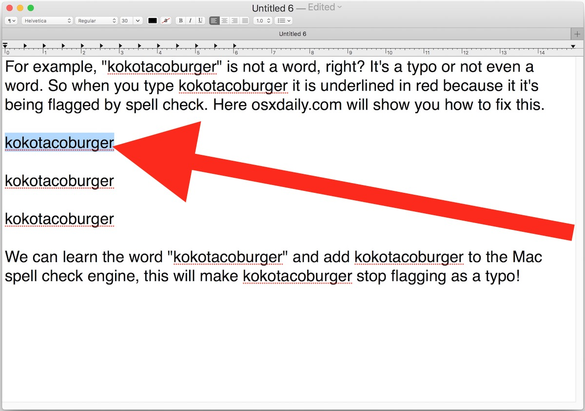 Gamma Hek How To Add A Word Or Spelling To Spellcheck On Mac Techtly
