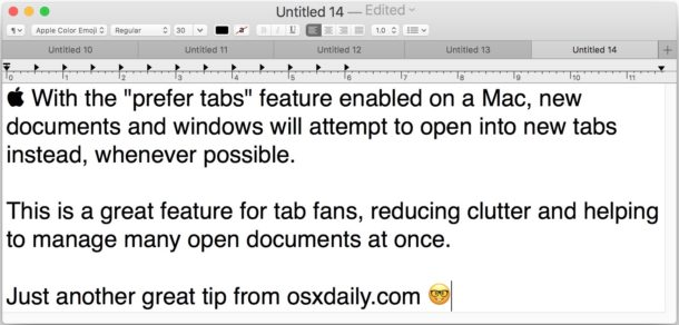 How to Set All Mac Apps to Prefer Tabs with New Document and Windows