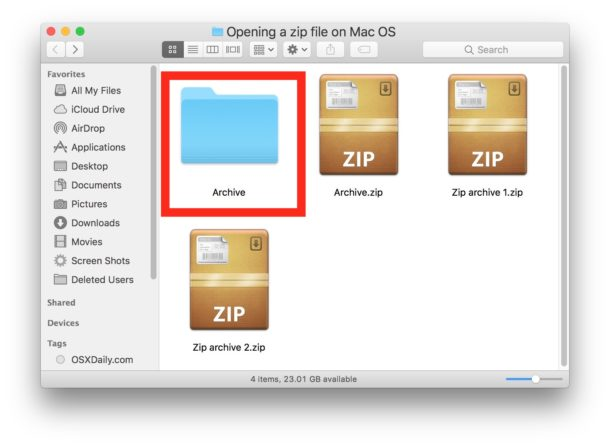 How to Open Zip Files on Mac OS