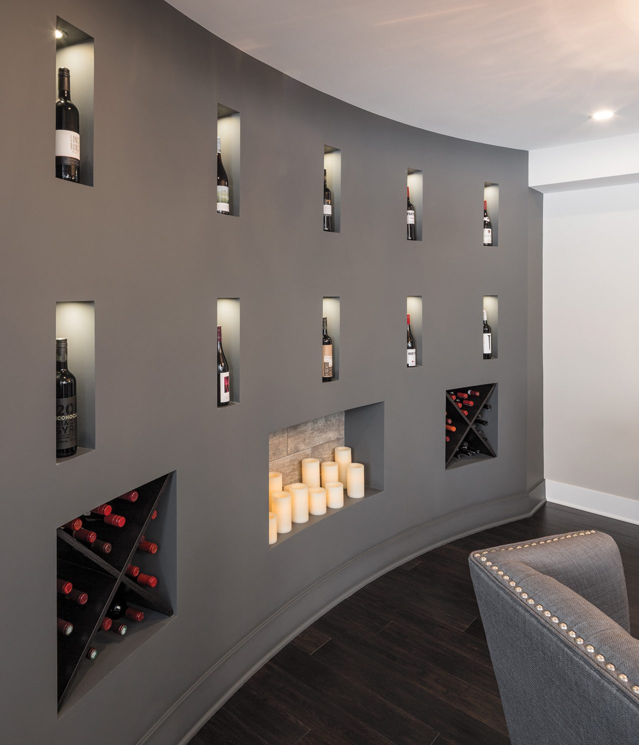 Lit Palette Design A Less Cave Like More Casual Wine Cellar Designed To Inspire
