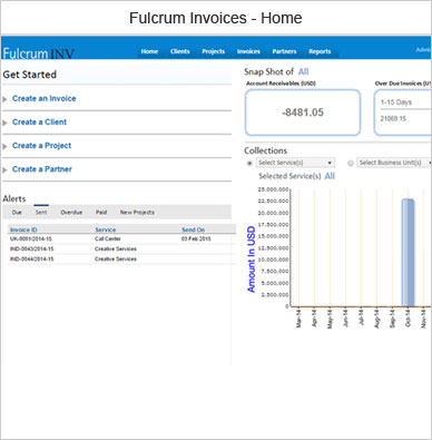Fulcrum Invoices Software - Outsource2india - home invoice