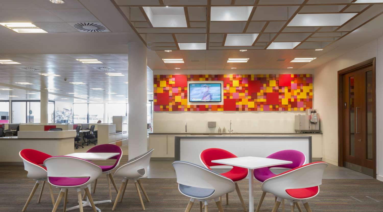 Cobit Case Study It Risk Management In A Bank Fit Out With Colourful Chairs And Wall Detailing