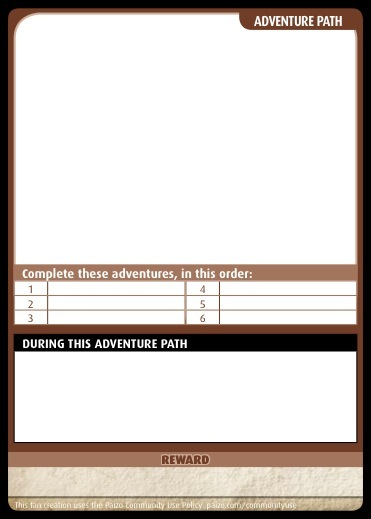 paizo - Community Use Package Pathfinder Adventure Card Game