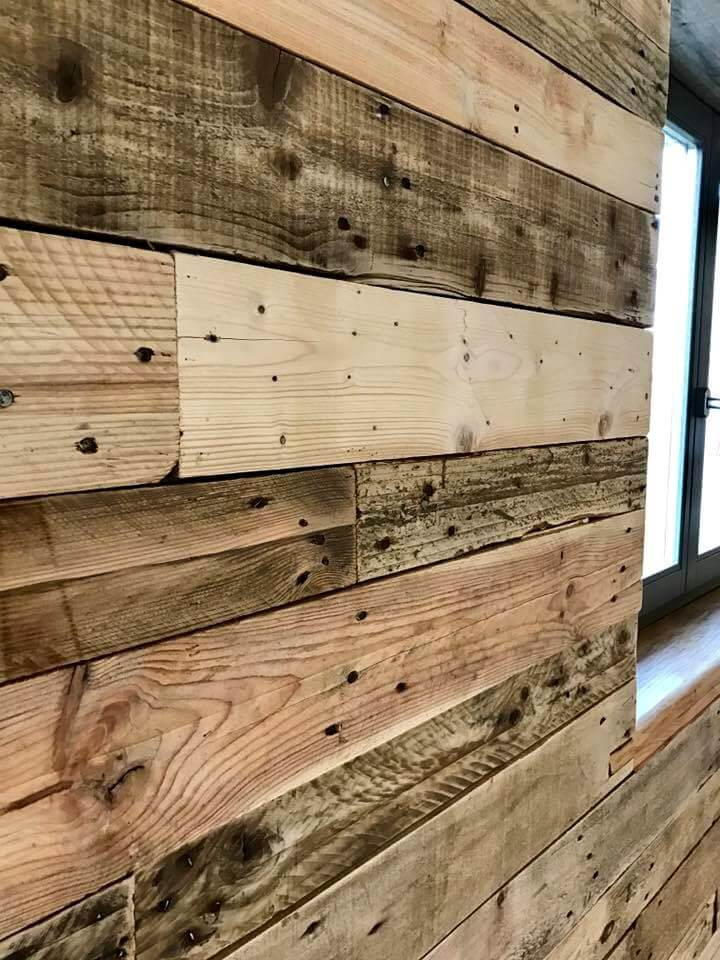Height To Hang Pictures Diy Pallet Wall Paneling / Wall Cladding - Pallets Pro