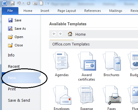 microsoft office resume template free