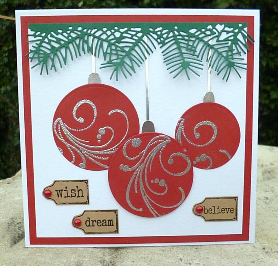 Pretentious Baubles Handmade Card Idea Handmade Tags Boyfriend Trees Handmade Cards Project Ideas Handmade Cards cards Handmade Christmas Cards