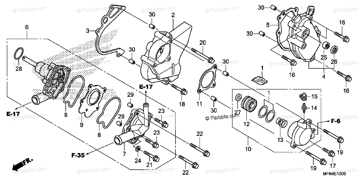 diagram of honda motorcycle parts 2011 cb1000r a water pump diagram