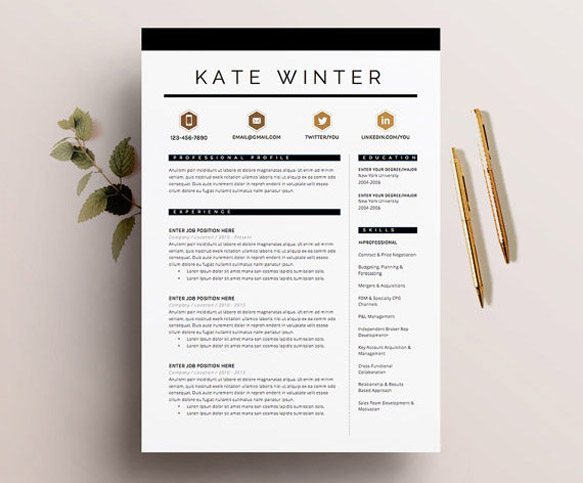 graphic designer resume modern - Boatjeremyeaton - graphic design resume template