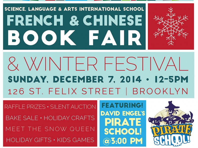 French and Chinese Book Fair and Winter Festival this Sunday Park