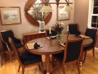 Hickory Kitchen Table Set & Rustic Hickory Dining Room ...