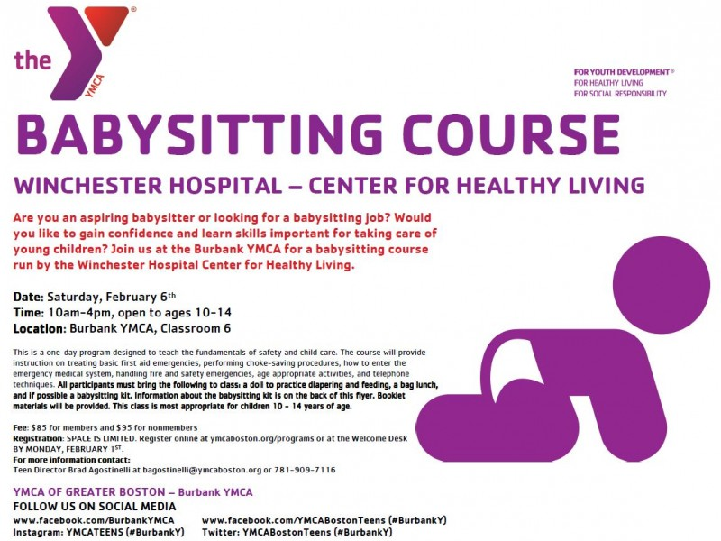 Burbank (Reading) YMCA Holds Babysitting Course By Winchester