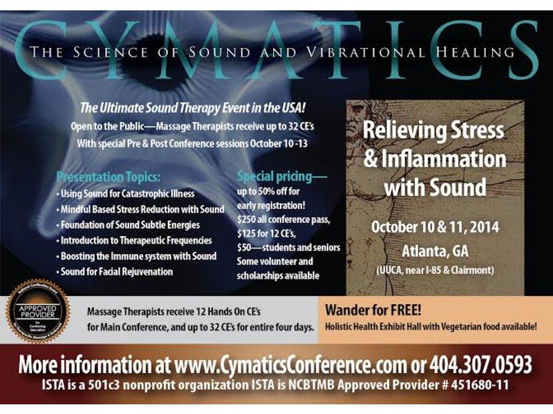 2014 Cymatics Conference Oct 10-13 Decatur, GA Patch