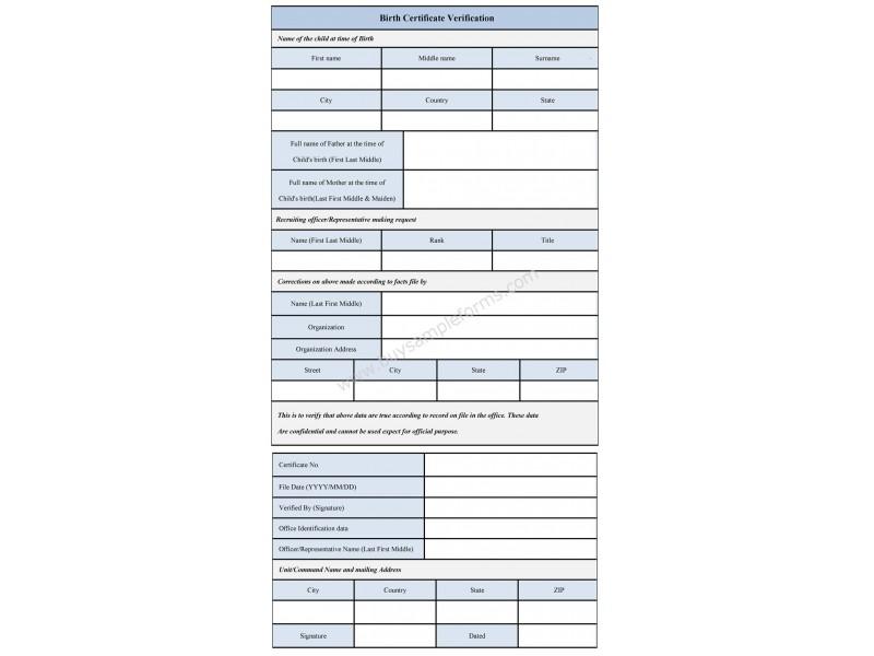 Sample Birth Certificate Verification Form Phoenixville, PA Patch - sample birth certificate